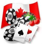 canada flag chips cards casino